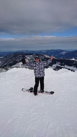 今シーズン初のスノーボード!!