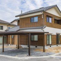 ギャラリー追加「杉板白壁和風建築の家」