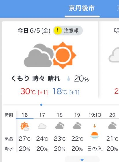 市 天気 京丹後